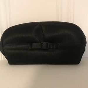 Vintage Black Satin La Regale Evening Bag w/ Bow🖤